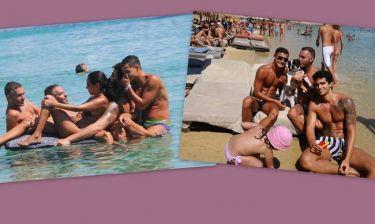 Dean & Dan:  Συνεχίζουν να απολαμβάνουν τις παραλίες της Μυκόνου