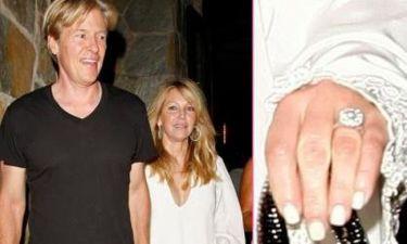 Νέος αρραβώνας, νέο δαχτυλίδι για την Heather Locklear