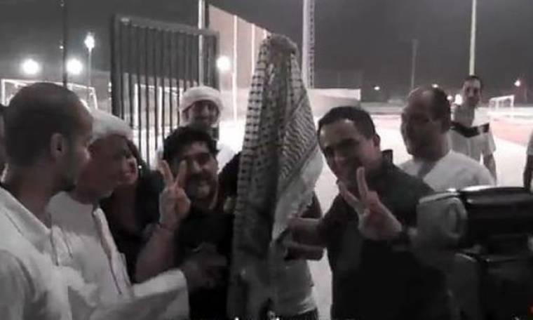 Video: Ο Μαραντόνα φοράει μαντίλα και στηρίζει Παλαιστίνη!