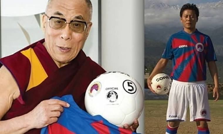 Ο Δαλάι Λάμα και η... νέα φανέλα του Θιβέτ