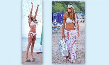 Ελένη Πετρουλάκη: Γυμναστική ακόμα και στην παραλία