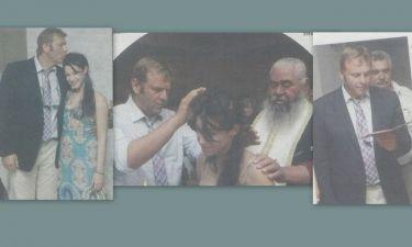 Απόστολος Γκλέτσος: Βάφτισε την κόρη του προέδρου των Αθίγγανων (φωτό)
