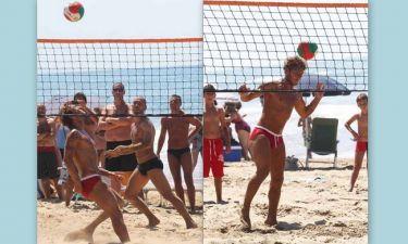 Ποδοβόλεϊ στην άμμο από τους Totti και Di Vaio