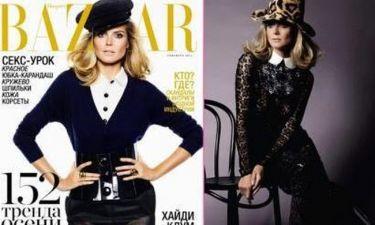 Η Heidi Klum στο ρωσικό Harper's Bazaar