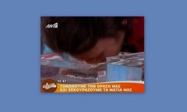 Video: Θανάσης Πάτρας: Έγινε μούσκεμα on air!
