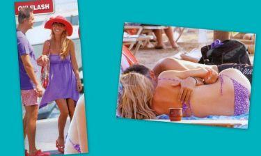 Αλαφούζος-Κωνσταντινίδη: Τα τρυφερά τετ-α-τετ τους στην παραλία