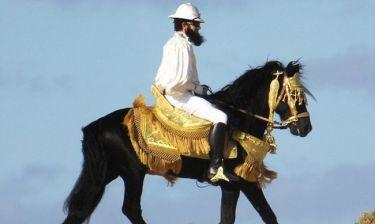 Ο Sacha πήρε το άλογο του