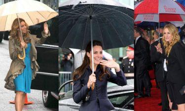Και οι σταρ θέλουν τις... ομπρέλες τους!