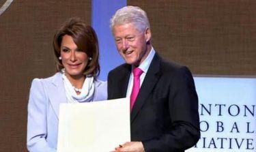 Τι έκανε η Γιάννα Αγγελοπούλου με τον Μπιλ Κλίντον στη Νέα Υόρκη; (φωτό)