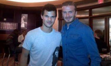 Η συνάντηση του David Beckham με τον Taylor Lautner