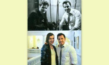 Γιώργος Σατσίδης: Τετ-α-τετ με Orlando Bloom και Milla Jovovich