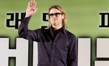 Ο Brad Pitt πιο σέξι από ποτέ στη Συνέντευξη Τύπου του  'Moneyball' στη Σεούλ
