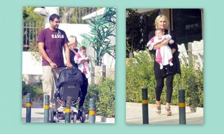 Μανιάνι – Γιαννούλης: H πρώτη βόλτα με το μωρό τους