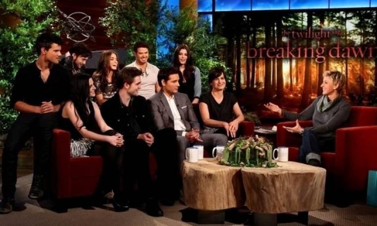 Video: Το καστ του Twilight στην Ellen DeGeneres