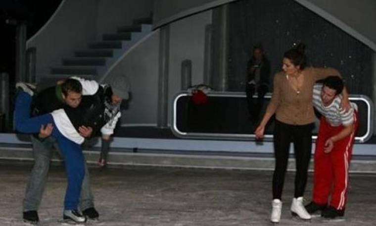 Η τελική πρόβα των celebrities πριν χορέψουν αύριο ξανά στον πάγο!  (φωτό)