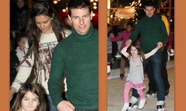 Tom Cruise-Katie Holmes: Με τη Suri στο παγοδρόμιο (φωτό)