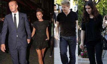 Οι πανηγυρισμοί των Beckham και το δείπνο με το ζεύγος Ramsay