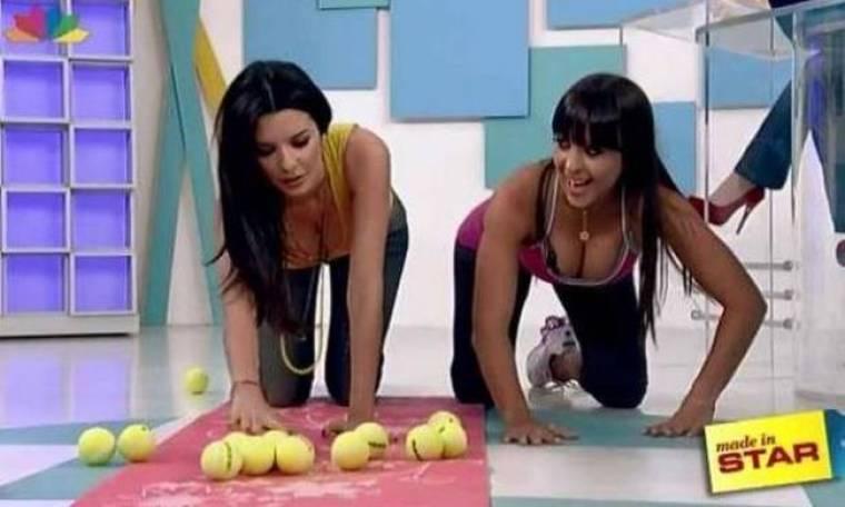 Η Νικολέτα Ράλλη έκανε γυμναστική στα... τέσσερα!