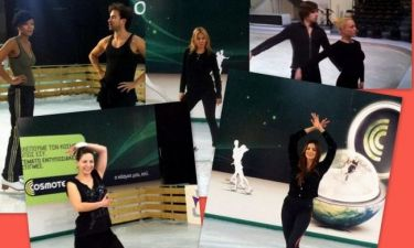Dancing on ice: Οι πρόβες των celebrities χθες το βράδυ για το live της Κυριακής (φωτό)