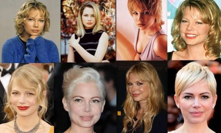Οι αλλαγές των look της Michelle Williams μέσα στο χρόνο