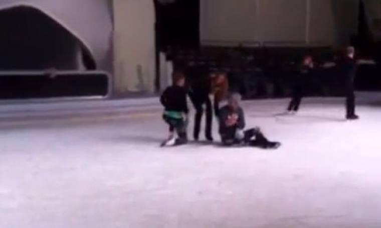 Video: Στην πρόβα του «Dancing on ice»