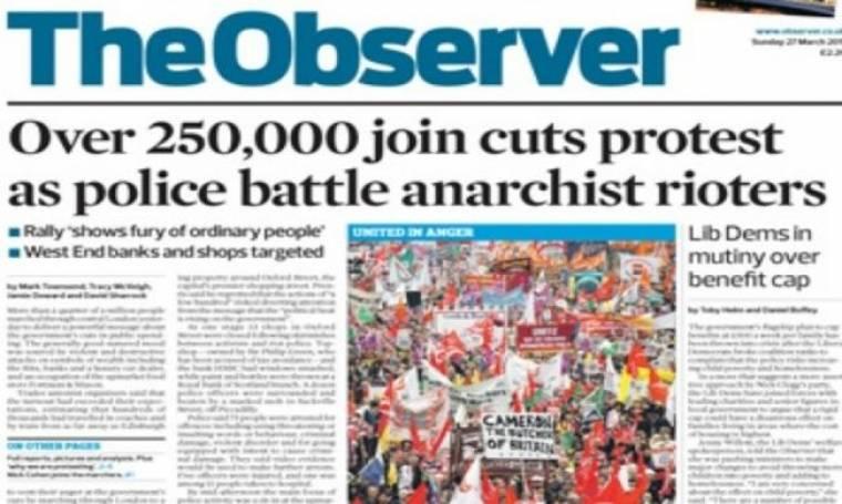 220α γενέθλια γα την παλιότερη κυριακάτικη εφημερίδα, Observer