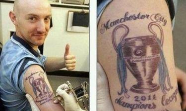 Καλύτερα να αποφεύγουν τα tattoo οι οπαδοί της Μάντσεστερ!