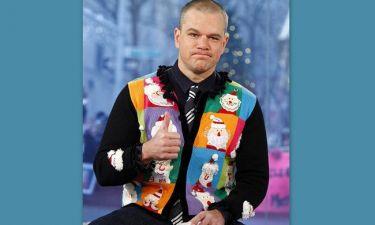 Ο Matt Damon με Χριστουγεννιάτικη διάθεση