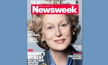Η Meryl Streep, ως Σιδηρά Κυρία στο Newsweek