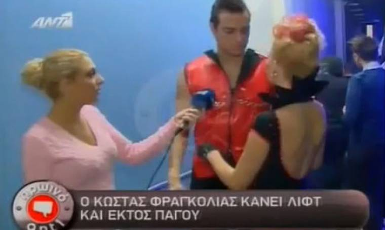 VIDEO: Backstage στο «Dancing on ice»