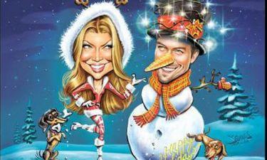 Αναγνωρίζετε το ζευγάρι στη χριστουγεννιάτικη κάρτα;