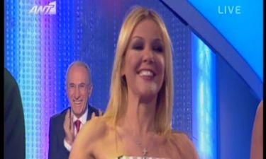 Video: Η Χριστίνα Παππά στο πλατό του Dancing On Ice