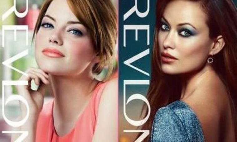 Emma Stone και Olivia Wilde, πρόσωπά της Revlon