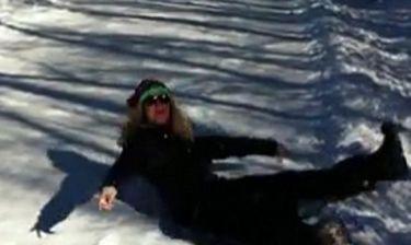 Η Heidi Klum παίζει στα χιόνια