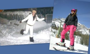 Η Χριστίνα Πάζιου πέρασε τις γιορτινές μέρες στο χιονισμένο Bansko