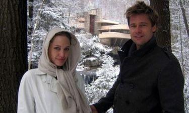 Ο Brad και η Angelina μπροστά από τους καταρράκτες