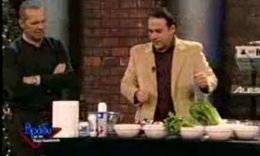 Δείτε τον Κρατερό Κατσούλη να μαγειρεύει