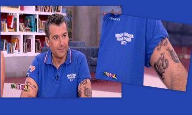 Γιώργος Λιάγκας: Εμφανίστηκε με tattoos στην εκπομπή