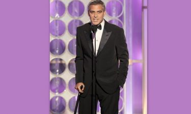 Ο George Clooney με μπαστούνι στη σκηνή