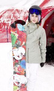 Emma Roberts: Παίζοντας στα χιόνια της Γιούτα