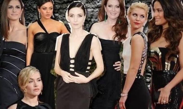 Και το κλασικό μαύρο φορέθηκε στο κόκκινο χαλί των Golden Globes