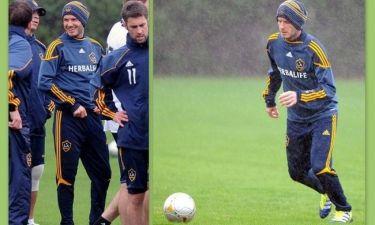 David Beckham: Επέστρεψε στη δουλειά (φωτό)
