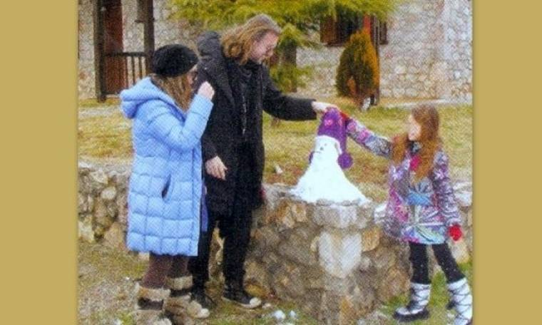 Χριστίνα Μαραγκόζη: Με την οικογένεια στην Αράχοβα