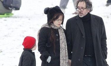 Tim Burton – Helena Bonham Carter: Σε σπάνιες οικογενειακές στιγμές