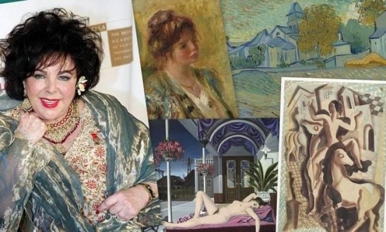Στο σφυρί πανάκριβοι πίνακες ζωγραφικής από τη συλλογή της Elizabeth Taylor