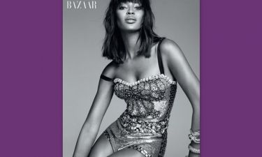 Naomi Campbell: Φωτογράφηση στο Harper's Bazaar