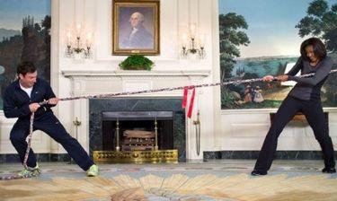 Νέες… γυμναστικές επιδείξεις από την Michelle Obama