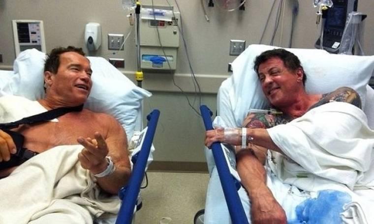 Schwarzenegger και Stallone, μαζί και στο κρεβάτι του πόνου