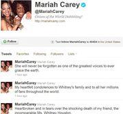 Βροχή τα μηνύματα για το θάνατο της Whitney Houston