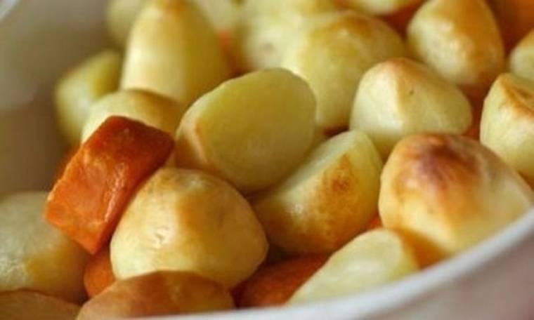 Πατάτες φούρνου με χυμό εσπεριδοειδών